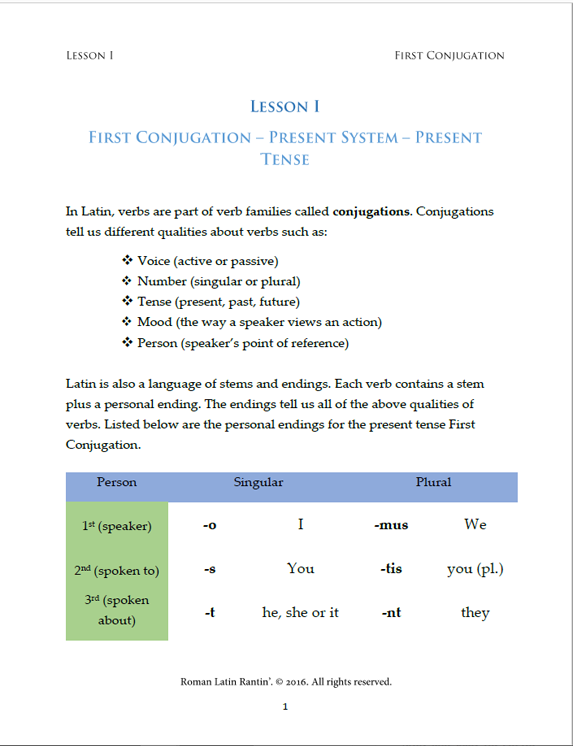 Lesson I Student Worksheets
