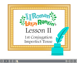 Lesson 2 First Conjugation Imperfect Tense Vocabulary